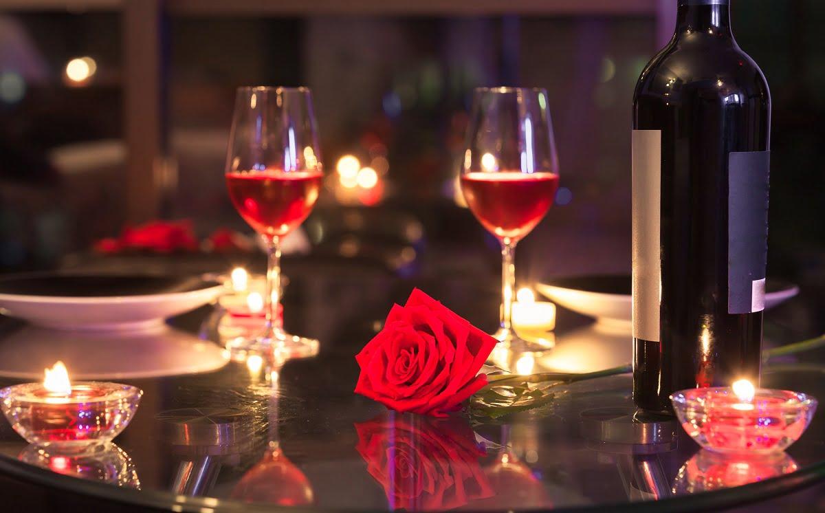 Romantic date concept