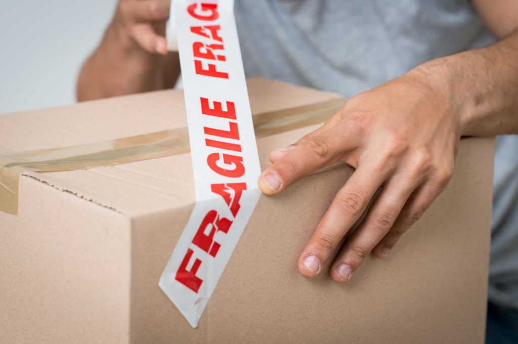 packing a fragile box