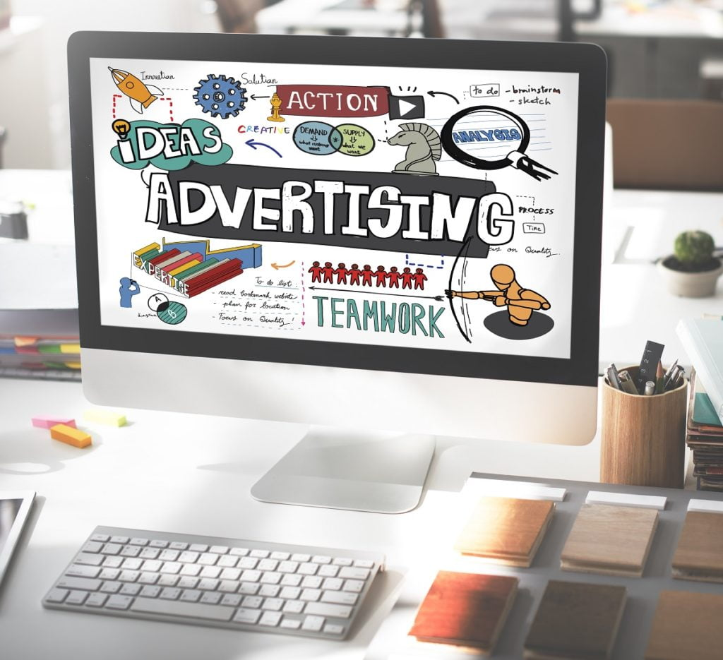 advertising concept on computer