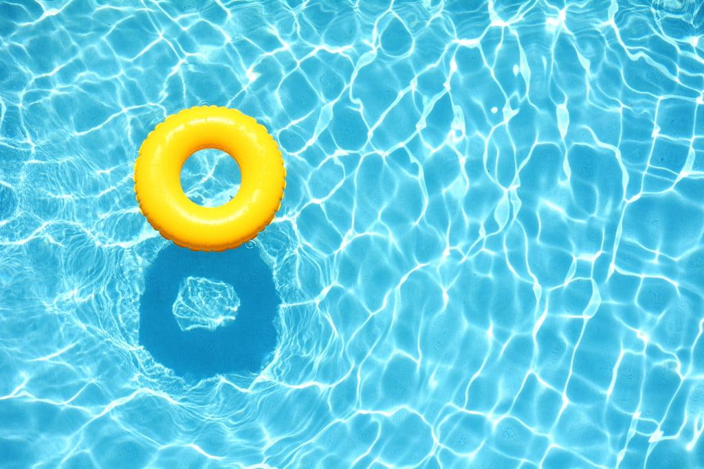 pool in summer
