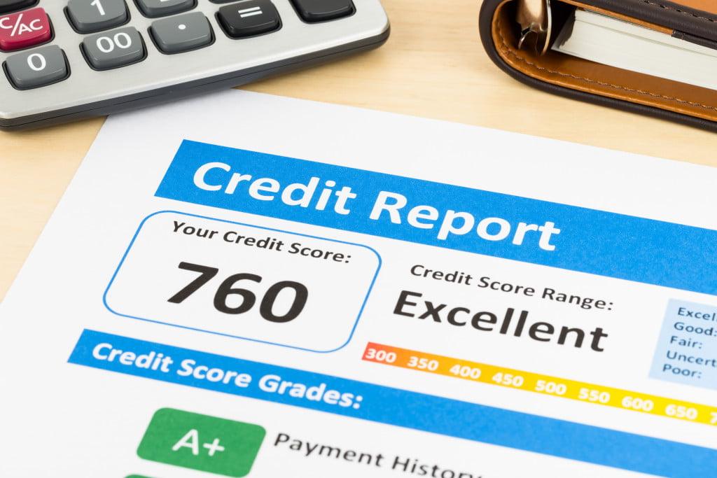 excellent credit report score