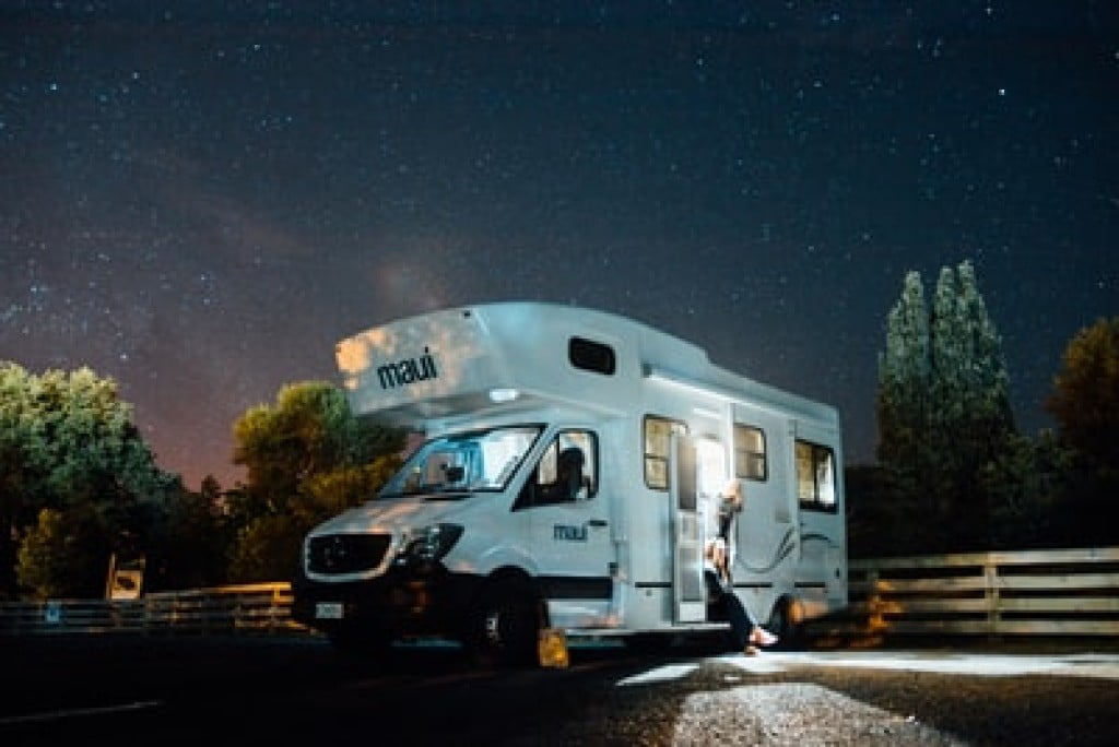 camping in an RV