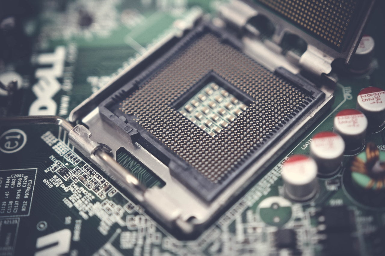 cpu socket on a motherboard