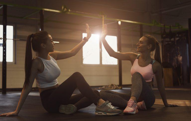 2 woman exercising